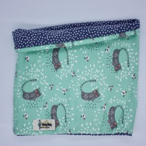 Buff o cuello reversible gatos mint y topos gris 2