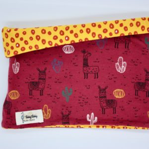 Buff reversible rojo alpacas y leopardo