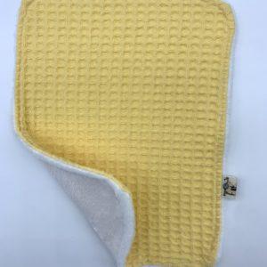 Toallita reutilizable waffle amarillo