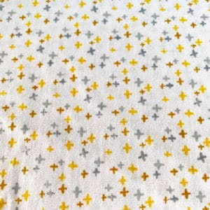 Tela (34) Cruces fondo blanco